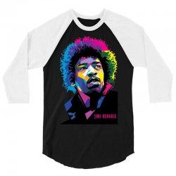 jimi hendrx Designed 3/4 Sleeve Shirt | Artistshot