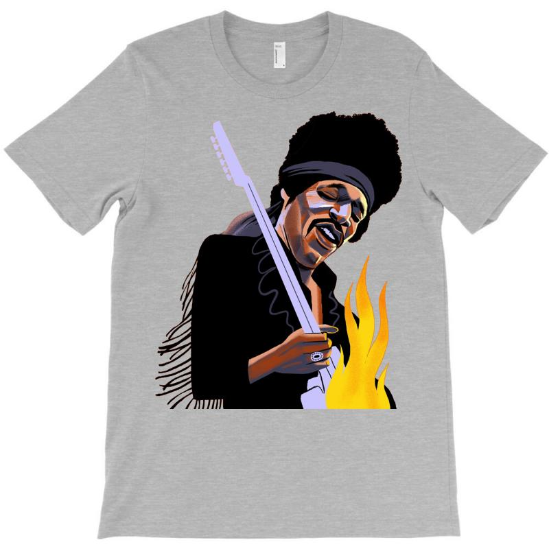 Jimi Hendrix Playing The Guitar T-shirt | Artistshot