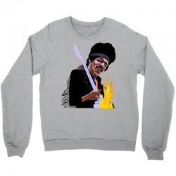 jimi hendrix Playing the guitar Crewneck Sweatshirt | Artistshot