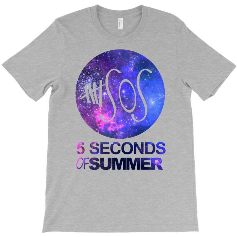 5sos Five Seconds Of Summer Logo Circle Galaxy White T-shirt   Artistshot