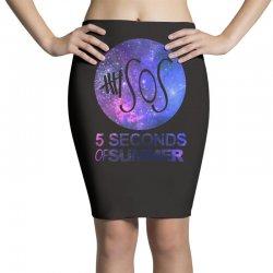 5sos five seconds of summer logo circle galaxy white Pencil Skirts   Artistshot