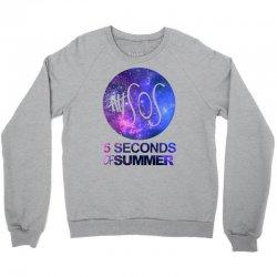 5sos five seconds of summer logo circle galaxy white Crewneck Sweatshirt   Artistshot