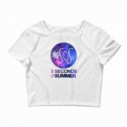 5sos five seconds of summer logo circle galaxy white Crop Top   Artistshot