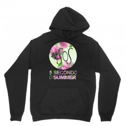 5sos five seconds of summer logo circle floral flowers 1 one direction Unisex Hoodie | Artistshot