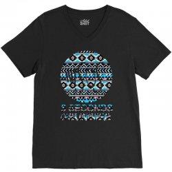 5sos five seconds of summer logo circle aztec tribal adult V-Neck Tee | Artistshot