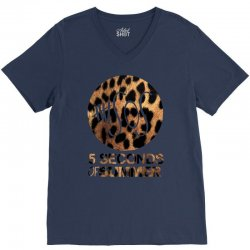 5sos five seconds of summer logo cheetah V-Neck Tee | Artistshot