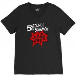 5sos don't stop five seconds of summer band V-Neck Tee | Artistshot