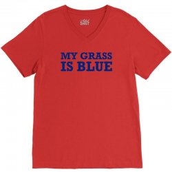 blue grass t shirt country music shirt cool tshirt harmonica banjo shi V-Neck Tee | Artistshot