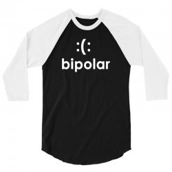 bi polar t shirt funny cool t shirt t shirt cool shirt mens t shirt ge 3/4 Sleeve Shirt | Artistshot