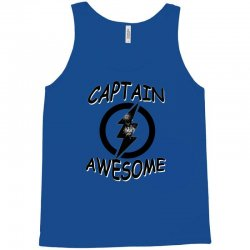captain awesome tshirt funny humor tee comic vintage new lightning vtg Tank Top | Artistshot