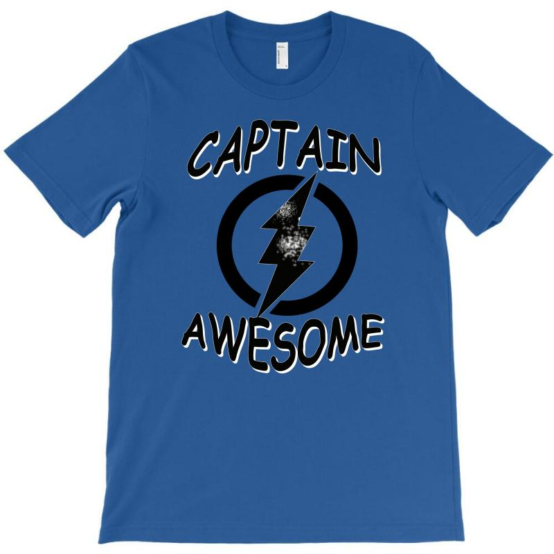 Captain Awesome Tshirt Funny Humor Tee Comic Vintage New Lightning Vtg T-shirt | Artistshot
