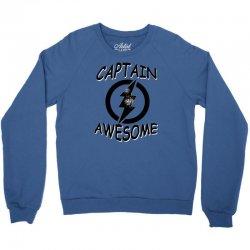 captain awesome tshirt funny humor tee comic vintage new lightning vtg Crewneck Sweatshirt | Artistshot