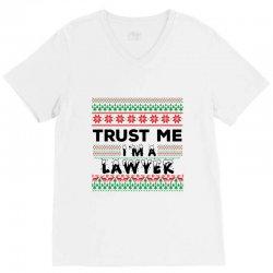 TRUST ME I'M A LAWYER V-Neck Tee   Artistshot