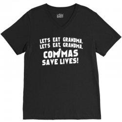 commas save lives! V-Neck Tee | Artistshot