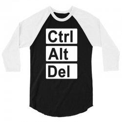 control alt delete 3/4 Sleeve Shirt   Artistshot