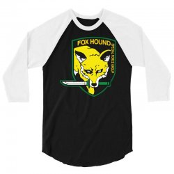 fox hound badge special forces group logo 3/4 Sleeve Shirt | Artistshot