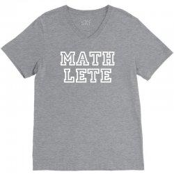mathlete slogan V-Neck Tee   Artistshot