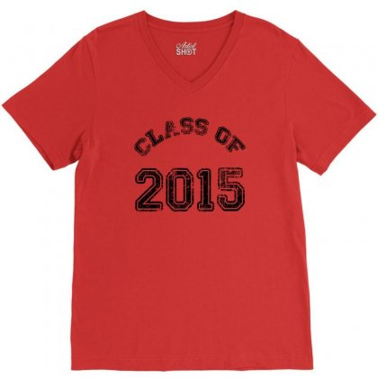 Class Of 2015 V-neck Tee Designed By Permatasarisekar
