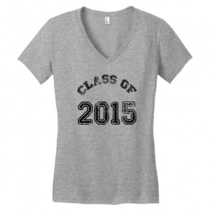 Class Of 2015 Women's V-neck T-shirt Designed By Permatasarisekar