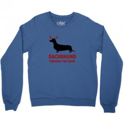 dachshund through the snow Crewneck Sweatshirt | Artistshot