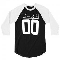cyberpunk ghost jersey japanese anime kawaii club kid cyber goth jerse 3/4 Sleeve Shirt   Artistshot
