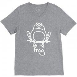 funny frog V-Neck Tee   Artistshot
