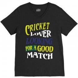 cricket lover V-Neck Tee | Artistshot