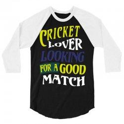 cricket lover 3/4 Sleeve Shirt | Artistshot