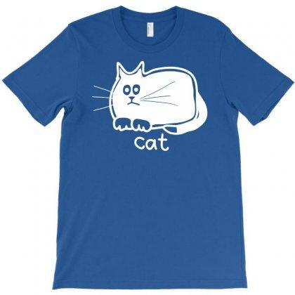 Cute Cat T-shirt Designed By Esti Septiani Agustin