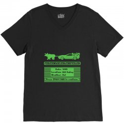 delorean trail V-Neck Tee | Artistshot