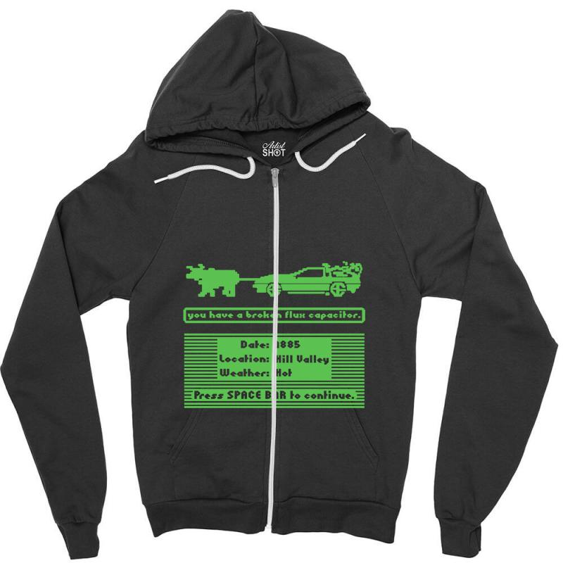 Delorean Trail Zipper Hoodie | Artistshot