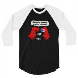 dino last unicorn girls 3/4 Sleeve Shirt   Artistshot