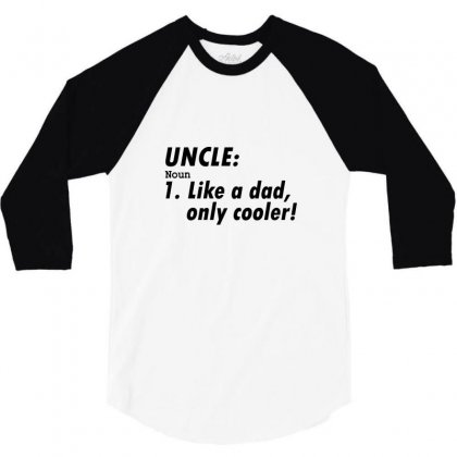 Definition Of Uncle 3/4 Sleeve Shirt Designed By Permatasarisekar