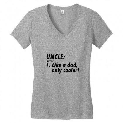 Definition Of Uncle Women's V-neck T-shirt Designed By Permatasarisekar