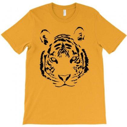 White Tiger Black Print T-shirt Designed By Esti Septiani Agustin