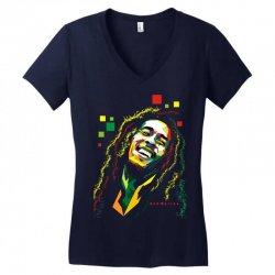Bob Marley Rasta way in Women's V-Neck T-Shirt | Artistshot