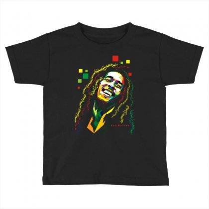 Bob Marley Rasta Way In Toddler T-shirt Designed By Mdk Art