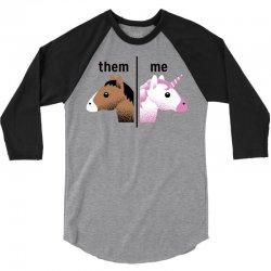 them & me unicorn style 3/4 Sleeve Shirt | Artistshot