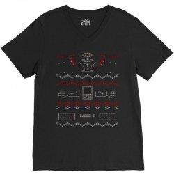 Ugly Gaming Sweater V-Neck Tee | Artistshot