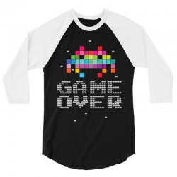 Game Over Pixel 8 bit 3/4 Sleeve Shirt | Artistshot