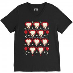 Pennywise It Movie Ugly Sweater V-Neck Tee | Artistshot