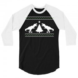 T-Rex Dinosaur Christmas Sweater 3/4 Sleeve Shirt | Artistshot