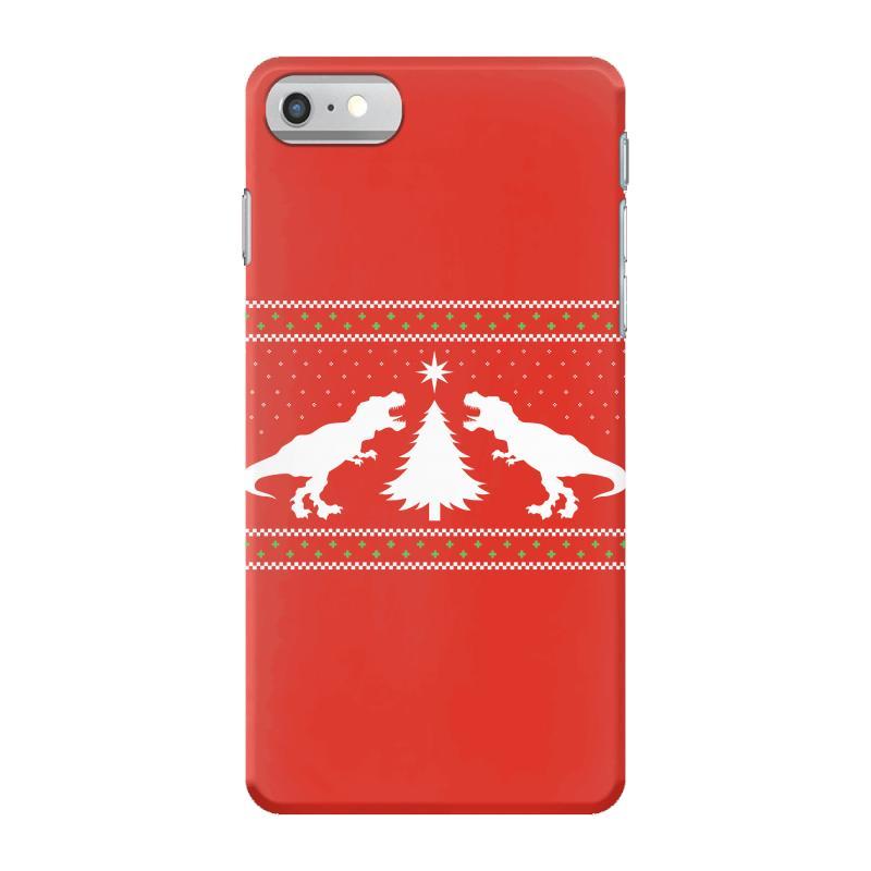 t rex dinosaur christmas sweater iphone 7 case artistshot - Dinosaur Christmas Sweater