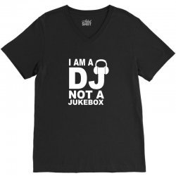 dj not a jukebox long sleeve V-Neck Tee   Artistshot