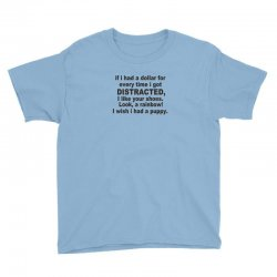 distracted funny Youth Tee | Artistshot