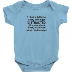 distracted funny Baby Bodysuit | Artistshot