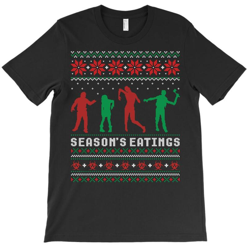Season's Eatings Ugly Zombie Christmas Sweater T-shirt | Artistshot