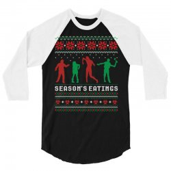 Season's Eatings Ugly Zombie Christmas Sweater 3/4 Sleeve Shirt | Artistshot