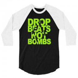 dub step drop beats not bombs black light skrillex ink hiphop dance 3/4 Sleeve Shirt | Artistshot