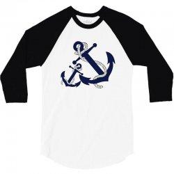 double anchor 3/4 Sleeve Shirt   Artistshot